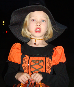 Lily as a witch