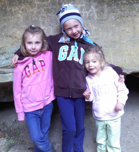 Kids in Hocking Hills