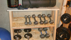 Wooden Dumbbell Rack